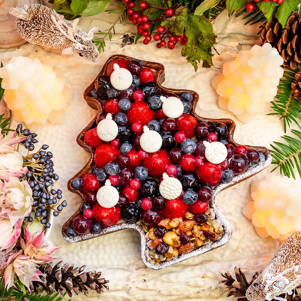 ~タルトプレミエ~ 赤いフルーツのクリスマスツリータルト
